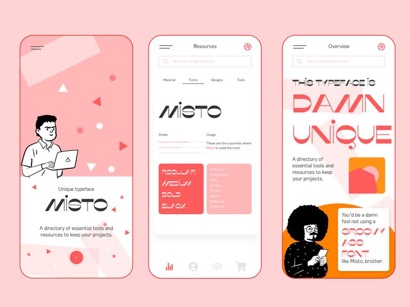 Rebound - Mobile App Concept for UI Designers