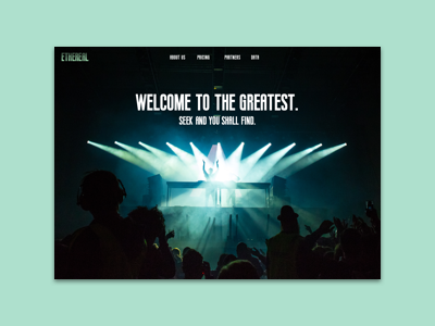 Ethereal - Landing Page Exploration