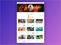 Crowdfunding Profile Page Design