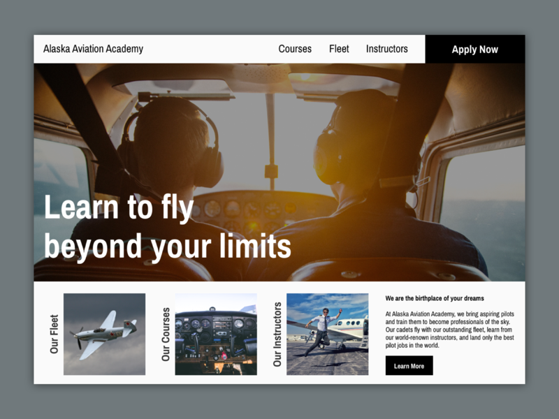 Aviation School Landing Page