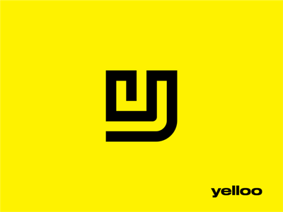 yelloo brand yellow yelloo icon logo logodesign mark logo concept