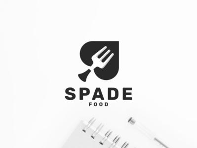Spade Food vector abstract character icon illustration symbol food sale card spade design logo