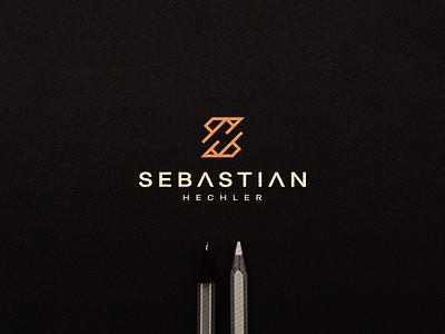 Sebastian  Hechler - SH Monogram branding flat minimal vector icon symbol design logo lettermark lettering monogram sh
