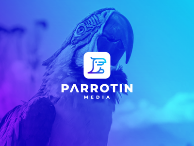 Parrotin Media web branding app ui ux icon vector design character symbol logo parrots media