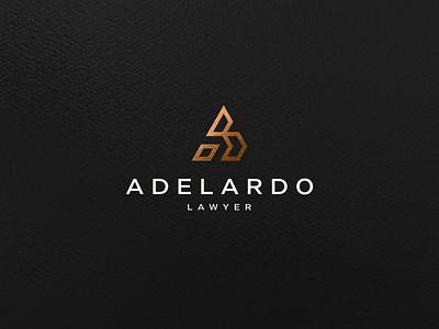 Adelardo Lawyer branding minimal typography lettermark minimalist icon vector symbol design logo luxury monogramlogo monogram