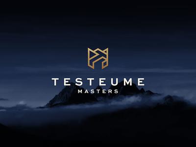 Testeume Masters - TM Monogram icon branding lettering typography vector symbol design logo lettermark monogram design tm monogram