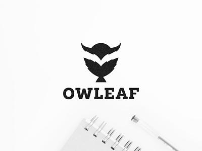 Owleaf character illustration icon symbol design logo owls vector leaflet design owl logo nature natural leaf owl