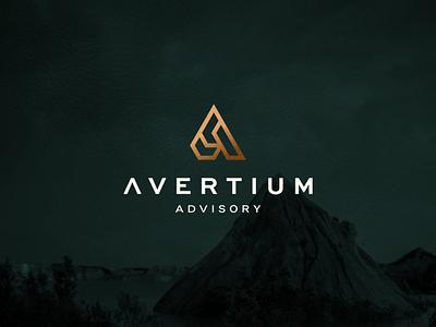 Avertium Advisory web minimal branding luxury lettering icon vector minimalist symbol design logo lettermark monogram logo monogram