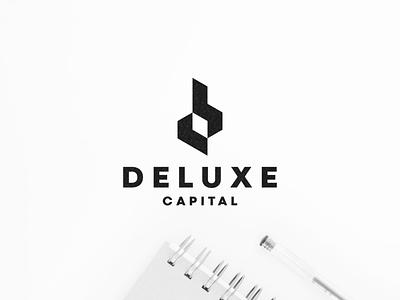 Deluxe Capital character branding lettering lettermark illustration icon vector symbol design monogram logo