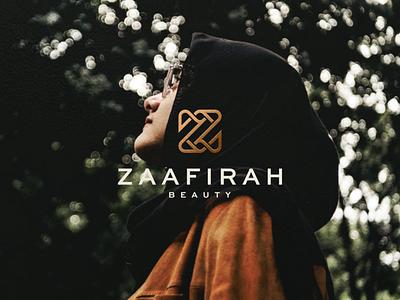 Zaafirah Beauty monogram lettermark branding female women icon vector symbol design logotype beauty zletter zlogo logo