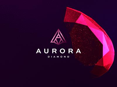 Aurora Diamond minimal logo symbol lettermark character branding icon design diamond logo diamond monogram letter a