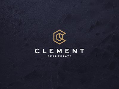 Clement Real Estate monogram lettermark lettering logotype architecture branding vector symbol design real estate realestatelogo logo