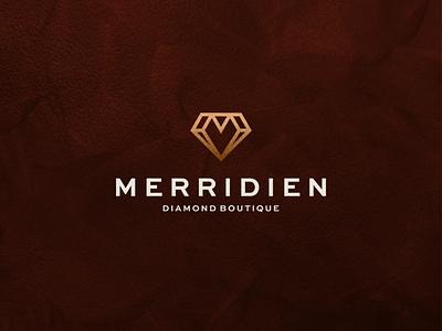 Merridien - Diamond Boutique abstract luxury logo luxury minimal icon branding vector symbol logo design diamond logo jewelry diamonds monogram m