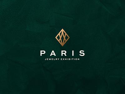 Paris Jewelry Exhibition abstract illustration branding icon vector symbol luxury design logo jewelery jewelry paris