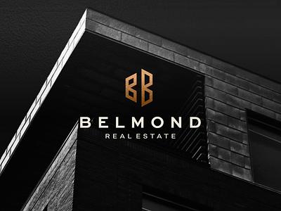 Belmond - Real Estate vector minimal branding lettermark icon building symbol design logo brand realestate monogram b