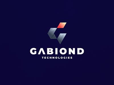 Gabiond Technologies app lettermark monogram branding character vector symbol design logo tech letter g
