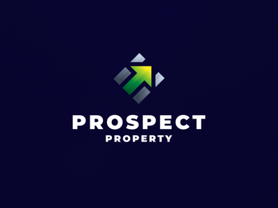 Prospect Property abstract property management digital icon character branding vector symbol design logo app property