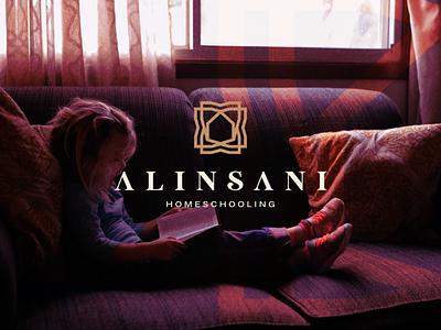 Alinsani monogram icon lettermark branding character symbol design ornament home school logo app design alogo