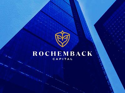 Rochemback Capital abstract monogram lettering branding icon vector real estate logo symbol design logo realestate
