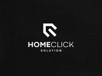 HomeClick app abstract character icon vector symbol design logo hotel click house home