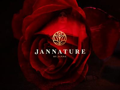 Jannature By Janne symbol abstract branding vector design logo ornaments logodesign flower logo brand women beauty luxury ornament flower