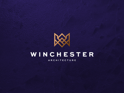 Winchester Architecture abstract lettering lettermark monogram character vector symbol design logo achitecture wa