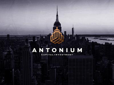 Antonium - Capital Investment illustration branding icon vector symbol design logo lettermark investment capital building monogram aletteraday aletter