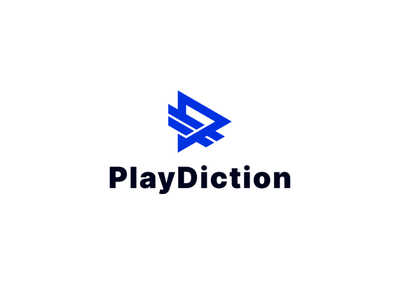PlayDiction lettermark lettering branding icon vector symbol design logo app application playbutton play