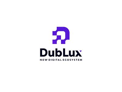 DubLux - New Digital Ecosystem minimal lettermark icon ux ui symbol logo application web design monogram logo digital monogram dmonogram