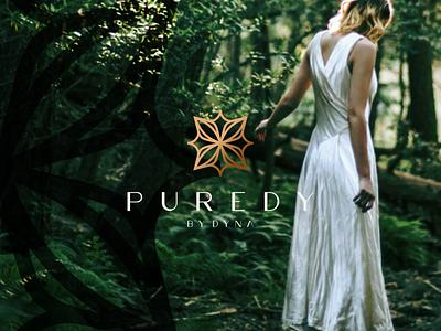 Puredy By Dyna minimal branding beautiful icon abstract vector monogram symbol beach design logo beauty pure