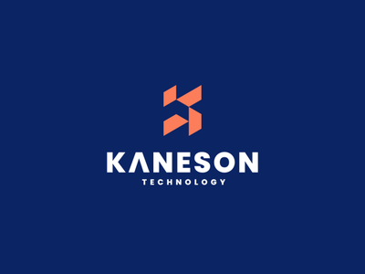 Kaneson Technology lettering branding lettermark abstract vector symbol design logo technology techno monogram k