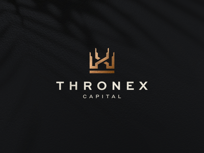 Thronex Capital kings building abstract icon vector symbol design logo kingdom logodesign crown logo queen crown king