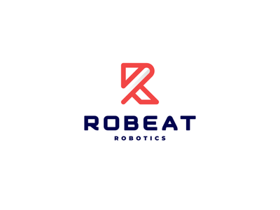 Robeat Robotics branding icon robot rocket logo robots technology symbol design rockets rocket logo logotype lettermark monogram rr robotic