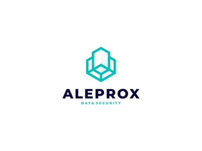 Aleprox - Data Security technology media ux ui illustration character branding icon vector symbol logo design security database data