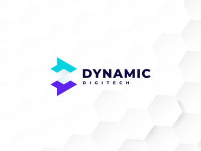 Dynamic Digitech ux ui illustration branding icon vector symbol technology design logo digitech tech digital