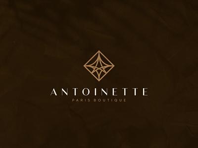 Antoinette - Paris Boutique character branding icon vector symbol monogram design logo paris women boutique