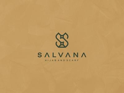 Salvana - Hijab and Scarf logotype lettermark monogram illustration character branding icon vector clothing symbol design logo designlogo muslim women hijab
