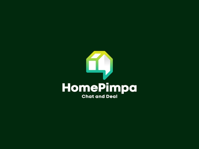 HomePimpa - Chat and Deal illustration character branding icon vector symbol design logo application web chat buy sell service home