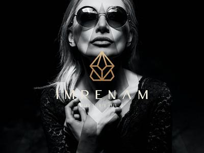 Impenam Boutique illustration branding icon vector symbol design logo fashion apparel luxury women boutique