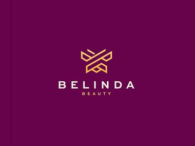 Belinda Beauty character branding icon vector symbol design logo skincare model women beautiful beauty butterfly