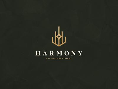 Harmony - Spa and Treatment aesthetic illustration character branding icon vector symbol design logo beauty spa