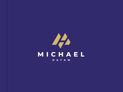 Michael Hayam - MH Monogram illustration character branding icon vector symbol design logo minimlist simple logotype letterm lettermark monogram mh