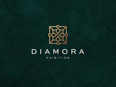 Diamora Exibition branding icon vector ring diamond luxury symbol design logo contest exibition jewelry jewellery
