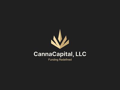 Canna Capital, LLC illustration character branding nature icon vector symbol design logo investment business cannabis capital