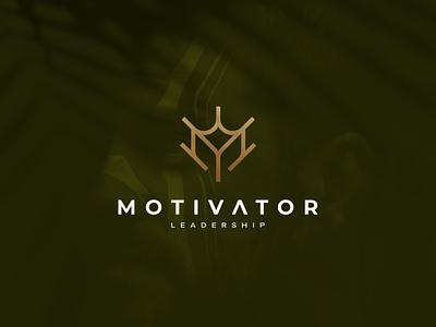 Motivator Leadership ux ui illustration character branding icon design logo vector symbol designlogo business leadership monogram mdesigns mlogo