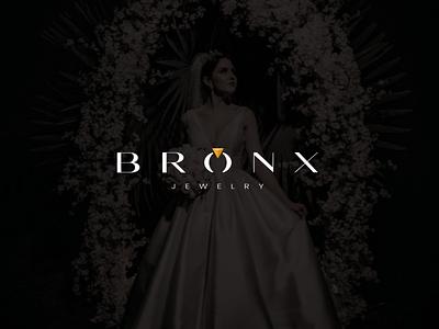Bronx Jewelry wedding luxury character branding vector symbol design icon mark logotype logomark logo gold women diamond jewellery jewelry wordmark