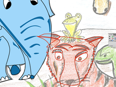 Zooster in Progress education animals elephant tiger frog snake giraffe zoo poster series school projects