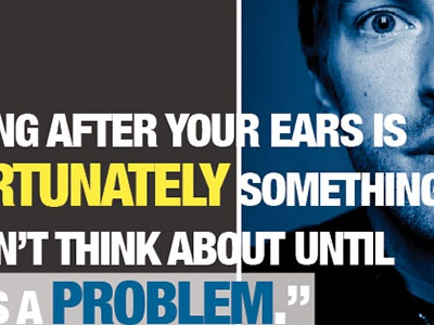 Don't Lose the Music dont lose the music project school deafness nad chris martin photography typography brochure