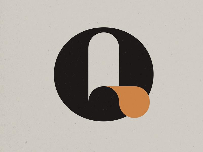 The Letter Q type letter q branding logo
