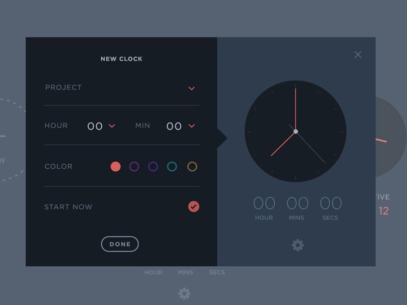 Project Management Time Clock UI